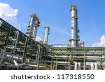 petrochemical plant  with blue... | Shutterstock . vector #117318550
