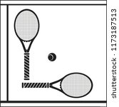 rackets and ball.  | Shutterstock .eps vector #1173187513
