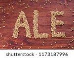 the inscription of ale by malt... | Shutterstock . vector #1173187996