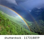 double rainbow in glacier...