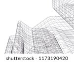 city architecture 3d  | Shutterstock .eps vector #1173190420