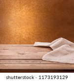 empty wooden table with... | Shutterstock . vector #1173193129
