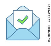 email confirmation color icon.... | Shutterstock .eps vector #1173195619