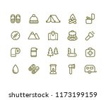 camping icon set. simple vector ... | Shutterstock .eps vector #1173199159