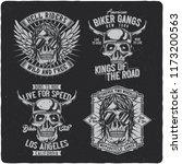 vintage labels set with...   Shutterstock .eps vector #1173200563