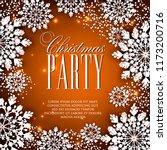 origami snowfall. merry... | Shutterstock .eps vector #1173200716