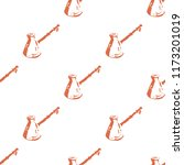 seamless pattern of coffee... | Shutterstock .eps vector #1173201019