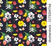 flowers seamless pattern hand... | Shutterstock . vector #1173204766