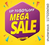 mega sale banner design up to... | Shutterstock .eps vector #1173206560