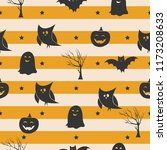 seamless halloween pattern with ... | Shutterstock .eps vector #1173208633