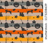 seamless halloween pattern with ... | Shutterstock .eps vector #1173208639