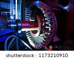 stator generators of a big... | Shutterstock . vector #1173210910
