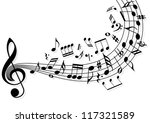 musical notes flying over the... | Shutterstock .eps vector #117321589