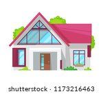 colorful country house  family... | Shutterstock .eps vector #1173216463