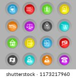 e commerce interface colored... | Shutterstock .eps vector #1173217960