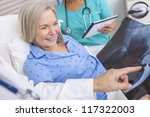 happy senior woman patient... | Shutterstock . vector #117322003