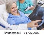 happy senior woman patient... | Shutterstock . vector #117322003