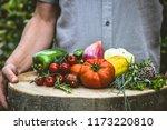 organic vegetables. farmers... | Shutterstock . vector #1173220810