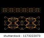 golden  ornamental segment  ... | Shutterstock . vector #1173222073