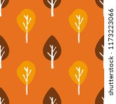 seamless autumn pattern with... | Shutterstock .eps vector #1173223066