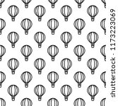 seamless air balloon pattern.... | Shutterstock .eps vector #1173223069