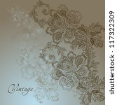 abstract vintage elegant vector ... | Shutterstock .eps vector #117322309