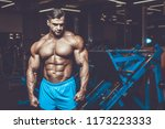 handsome young fit muscular... | Shutterstock . vector #1173223333