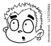 surprised boy cartoon...   Shutterstock .eps vector #1173224866