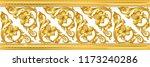 seamless golden ornamental...   Shutterstock .eps vector #1173240286