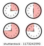 vector clock is showing the... | Shutterstock .eps vector #1173242590