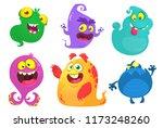 cartoon monsters. vector set of ... | Shutterstock .eps vector #1173248260