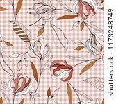 retro wild seamless flower... | Shutterstock .eps vector #1173248749