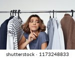 cloakroom attendant at the... | Shutterstock . vector #1173248833