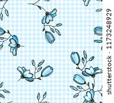 blossom floral seamless pattern.... | Shutterstock .eps vector #1173248929