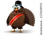 festive thanksgiving turkey... | Shutterstock . vector #1173249973
