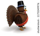 festive thanksgiving turkey... | Shutterstock . vector #1173249976