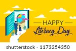 international literacy day... | Shutterstock .eps vector #1173254350
