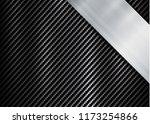 abstract metallic frame carbon... | Shutterstock .eps vector #1173254866