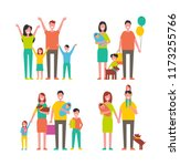 family members cartoon... | Shutterstock .eps vector #1173255766