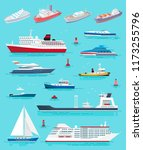 water transport different kinds ... | Shutterstock .eps vector #1173255796