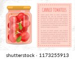 canned tomato veggies preserved ... | Shutterstock .eps vector #1173255913