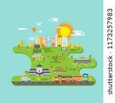 bandung city of indonesia... | Shutterstock .eps vector #1173257983