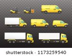 set of delivery and... | Shutterstock .eps vector #1173259540