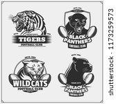 set of football emblems  badges ... | Shutterstock .eps vector #1173259573