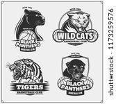 set of basketball emblems ... | Shutterstock .eps vector #1173259576