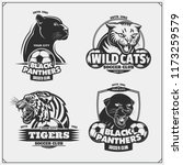 set of soccer emblems  badges ... | Shutterstock .eps vector #1173259579