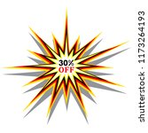 30  off discount sticker offer... | Shutterstock .eps vector #1173264193