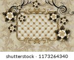 3d illustrated wallpaper design ... | Shutterstock . vector #1173264340