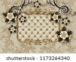 3d illustrated wallpaper design ... | Shutterstock . vector #1173264340