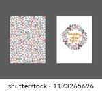 set of winter christmas card ... | Shutterstock .eps vector #1173265696